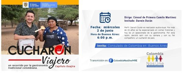 El Consulado de Colombia en Buenos Aires invita a un recorrido virtual por la gastronomía tradicional colombiana de La Guajira, el 2 de junio de 2021