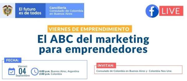 Consulado de Colombia en Buenos Aires invita al Facebook Live: ABC del Marketing