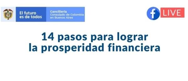 Consulado de Colombia en Buenos Aires invita al Facebook Live del 28 de agosto sobre la prosperidad