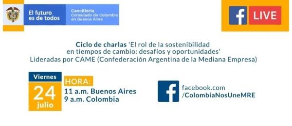 El Consulado de Colombia en Buenos Aires invita a la trasmisión del Ciclo de charlas