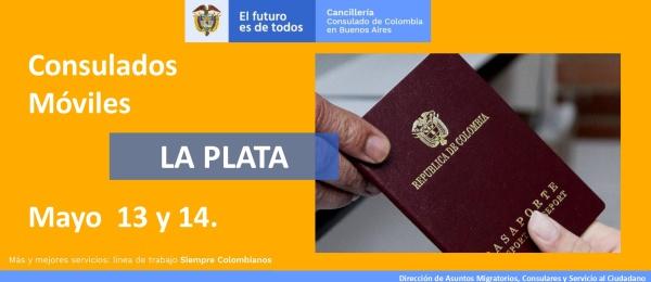 Consulado de Colombia en Buenos Aires realizará la jornada de Consulado Móvil en la Plata el 13 y 14 de mayo