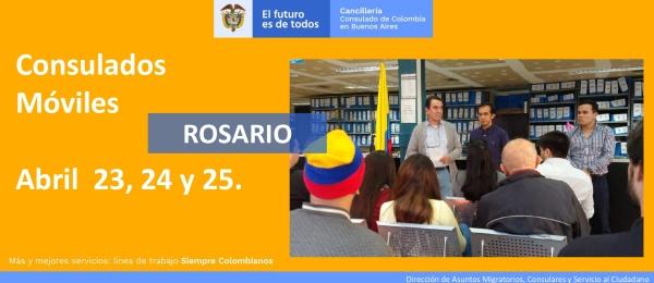 Consulado de Colombia en Buenos Aires realizará el Consulado Móvil en Rosario del 23 al 25 de abril de 2021
